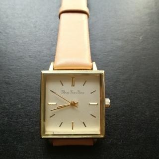 スリーフォータイム(ThreeFourTime)のthreefourtime◆ビッグスクエアベルト腕時計❰ほぼ新品❱(腕時計)