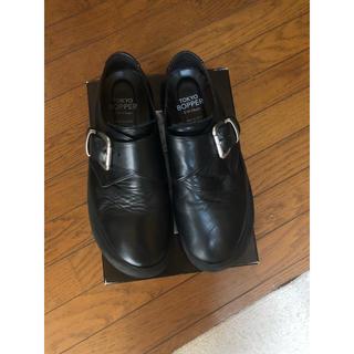 トーキョーボッパー(TOKYO BOPPER)のTOKYO BOPPER  メンズ 黒スムース 厚底スニーカー 革靴 厚底(スニーカー)