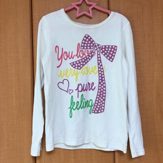 アコバ(Acoba)のロンTシャツ 長袖 ロゴTシャツ 白 サイズ130(Tシャツ/カットソー)