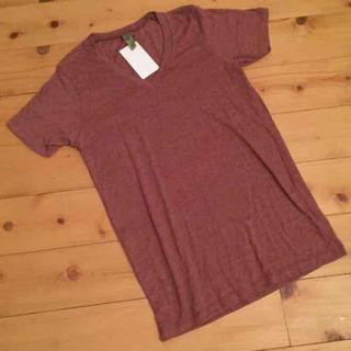 オルタナティブ(ALTERNATIVE)の新品 ALTERNATIVE バーガンディ Tシャツ 男女兼用 S(Tシャツ(半袖/袖なし))