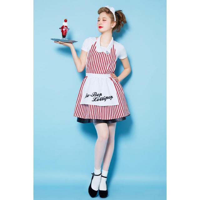 Candy Stripper(キャンディーストリッパー)のAMOコラボ  ハロウィン  クラシックダイナーガール  ウエイドレス エンタメ/ホビーのコスプレ(衣装)の商品写真