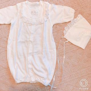 ディズニー(Disney)の未使用 新生児 セレモニー Disney ボンネット付き お宮参り(セレモニードレス/スーツ)