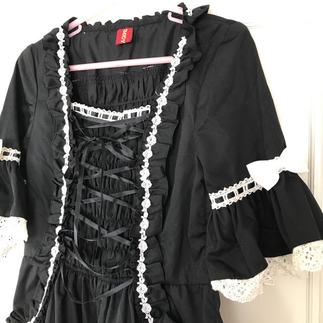 dfc91e7e3e315 BODYLINE - BODY LINE コットン黒ドレス*の通販 by ゆぅこ s shop ...