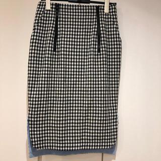 トゥーパーセントトウキョウ(2% TOKYO)のチェックタイトスカート(ロングスカート)