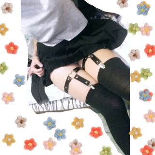 ✧︎再入荷✧︎タグ付き正規品 特殊ガーターベルト⑤ブラックハート(衣装一式)