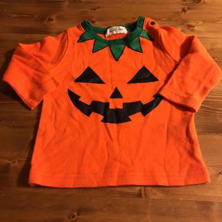 ハロウィン 80サイズ かぼちゃ(シャツ/カットソー)