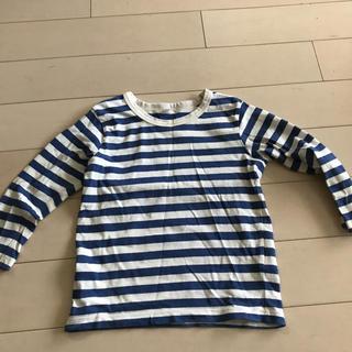 MUJI (無印良品) - 無印100 ボーダー長袖Tシャツ