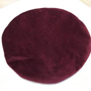 ザラ(ZARA)の新品同様ZARAザラベロアベルベット生地ベレー帽 帽子(ハンチング/ベレー帽)