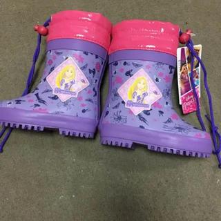 ディズニー(Disney)のラプンツェル  スノーレインブーツ【新品】14㎝(長靴/レインシューズ)