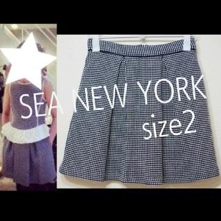 シーニューヨーク(Sea New York)のSEA NEW YORK シーニューヨーク 14SS チェックスカート 2 RA(ひざ丈スカート)