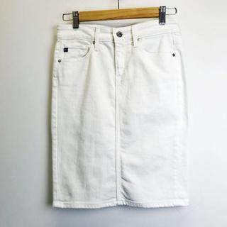 エージー(AG)の【美品】AGアドリアーノゴールドシュミット デニムスカート 25(ひざ丈スカート)