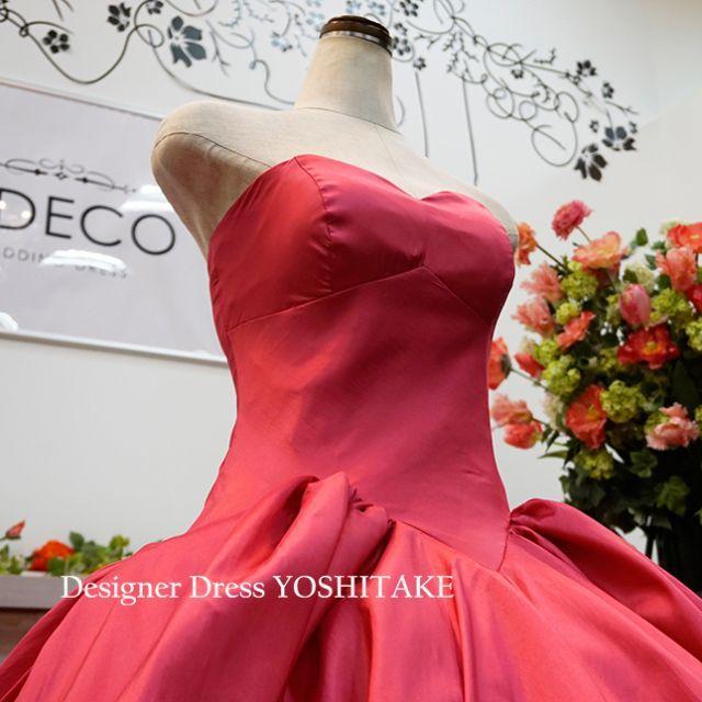 ウエディングドレス ウエストV/ピンクドレス 披露宴/二次会/演奏会 レディースのフォーマル/ドレス(ウェディングドレス)の商品写真