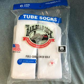 ヴァンズ(VANS)のRAILROAD SOCKS コットン 靴下 アメリカ made in USA(ソックス)