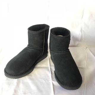 コアラビ(Koalabi)のkoalabi  ムートンブーツ  黒 23cm〜23.5cm (ブーツ)