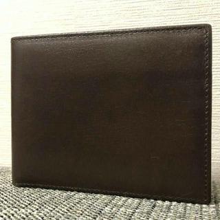 バリー(Bally)の未使用 バリー メンズ シンプル コンパクト レザー 二つ折り 札入れ 財布(折り財布)