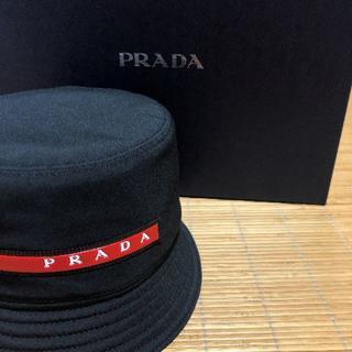 プラダ(PRADA)の完売品 希少 XLサイズ プラダ テクニカルファブリック バケットハット(ハット)