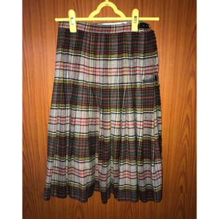 サントニブンノイチ(サントニブンノイチ)のチェック スカート(ひざ丈スカート)