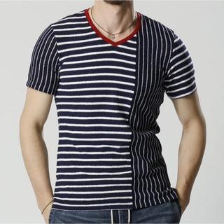 ダブルジェーケー(wjk)の新品タグ付9720円17SS wjk パッチワークストレッチカットソーTシャツ(シャツ)