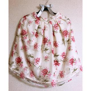 イング(INGNI)の花柄 オーガンジー スカート(ひざ丈スカート)