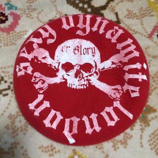 セクシーダイナマイト(SEXY DYNAMITE)のセクダイ ベレー 髑髏 赤 ハロウィン(ハンチング/ベレー帽)