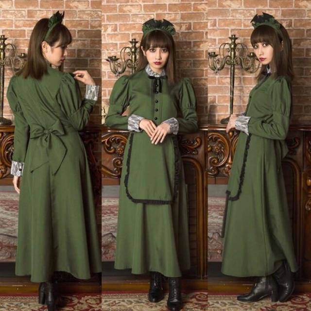 洋館メイド カチューシャ付き エンタメ/ホビーのコスプレ(衣装一式)の商品写真