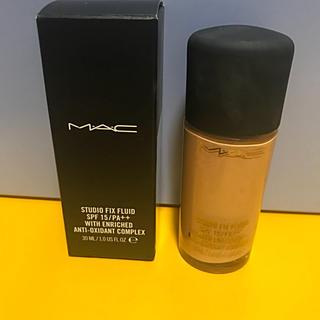 マック(MAC)のMACリキッドファンデーション 未使用 おまけつき(ファンデーション)