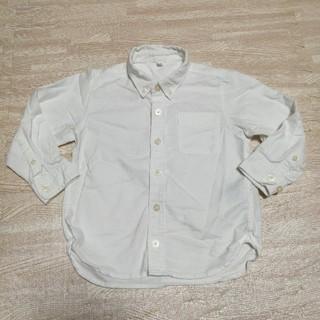 MUJI (無印良品) - キッズ 白シャツ 100cm