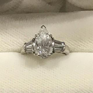 ペアシェイプダイヤモンドリング(リング(指輪))