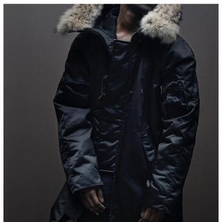 アディダス(adidas)のyeezy season1    Long Fur Coat(モッズコート)