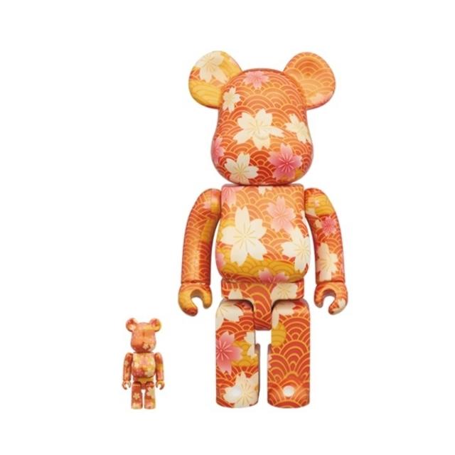 MEDICOM TOY(メディコムトイ)のベアブリック BE@RBRICK 千代紙 100% & 400% スカイツリー エンタメ/ホビーのフィギュア(ゲームキャラクター)の商品写真