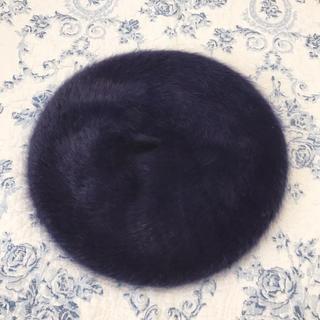 カシータ(casiTA)の新品タグ付き♡casiTA カシータ アンゴラ ファー ベレー帽 ハット 帽子♡(ハンチング/ベレー帽)
