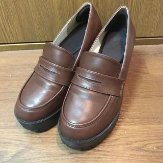 ピンクラテ(PINK-latte)の厚底フェイクレザーローファー(ローファー/革靴)