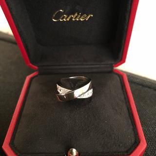 カルティエ(Cartier)の【お値下げ】【極美品】カルティエ パリリング WG ハーフダイヤ(リング(指輪))
