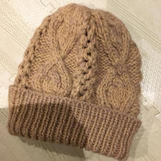 レプシィム(LEPSIM)のニット帽 レプシィム ローリーズファーム ベージュ(ニット帽/ビーニー)