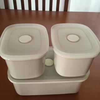 ムジルシリョウヒン(MUJI (無印良品))のバルブ付き密閉ホーロー保存容器(容器)