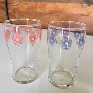 昭和レトロ 幾何学模様ペアグラス(ガラス)