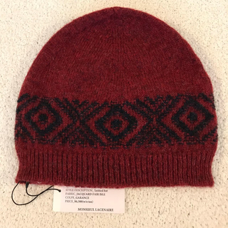 バーニーズニューヨーク(BARNEYS NEW YORK)のmonsieul lacenaire ジャガード ビニー ニット帽(ニット帽/ビーニー)