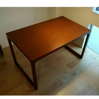 イデー(IDEE)のイデー マルー ダイニング テーブル 1300 アントンブラウン 中古 年内迄(ダイニングテーブル)