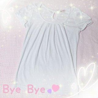 バイバイ(ByeBye)の♥Bye Bye♥リボン付*パフスリT♥(Tシャツ(半袖/袖なし))