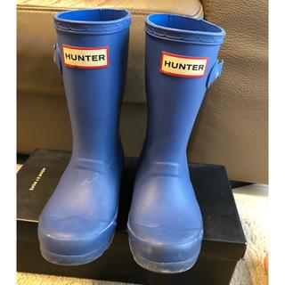 ハンター(HUNTER)のハンター キッズ☺︎レインブーツ UK9 ブルー (長靴/レインシューズ)