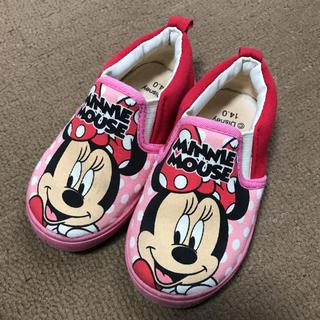 ディズニー(Disney)のミニーちゃん スリッポン14cm(スリッポン)