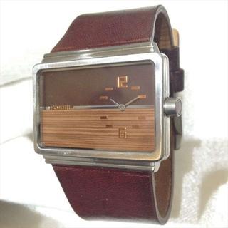 フォッシル(FOSSIL)のフォッシル 腕時計 FUEL JR-9447幅広レザーモダンスクエアウッド(腕時計(アナログ))