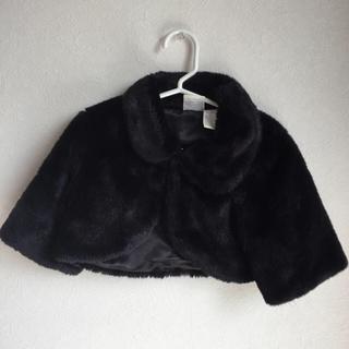 コアラベビー(KOALA Baby)のジャケット 黒 フェイクファー used(ジャケット/上着)