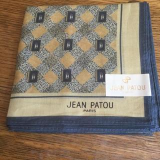 ジャンパトゥ(JEAN PATOU)のjean patou ハンカチ メンズ  新品未使用 タグ付き (ハンカチ/ポケットチーフ)