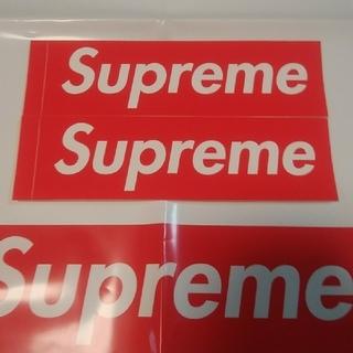 シュプリーム(Supreme)の2枚☆国内正規品 box logo ステッカー RED(その他)