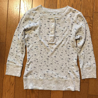 ムジルシリョウヒン(MUJI (無印良品))の無印良品 小花柄ワッフル長袖Tシャツ Sサイズ(Tシャツ(長袖/七分))