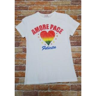 イリーデ(Ra Iride)のRa Iride  イリーデ 半袖Tシャツ Mサイズ ハート ラメ(Tシャツ(半袖/袖なし))