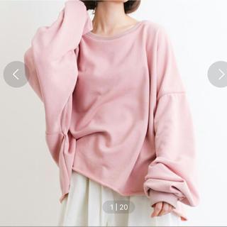 メルロー(merlot)のビッグシルエットスウェット(ピンク)(トレーナー/スウェット)
