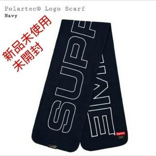 シュプリーム(Supreme)の国内正規品 polartec logo scarf  カラー navy (マフラー/ショール)