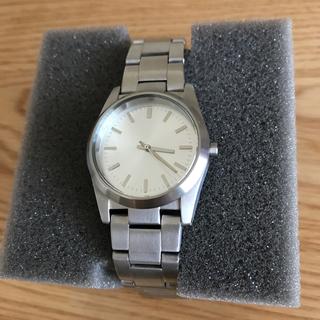 ムジルシリョウヒン(MUJI (無印良品))の箱付き 無印良品 ステンレス 腕時計 シルバー スモール(腕時計)